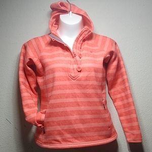 The North Face orange  hoodie